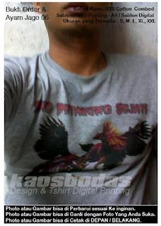 Kaos Ayam Jago 06 - Hasil Sablon