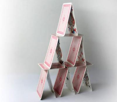 Playing card pyramid