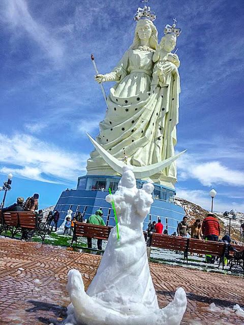 Virgen de nieve Socavon Oruro Bolivia