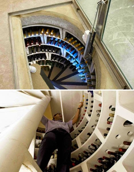 An amazing wine cellar right next to the kitchen! - This Guy Put A Secret Window On His Kitchen Floor, For A Brilliant Reason!