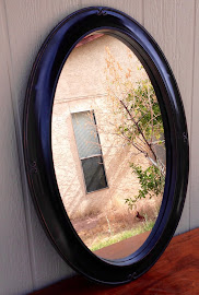 Black Distressed Mirror ($18)