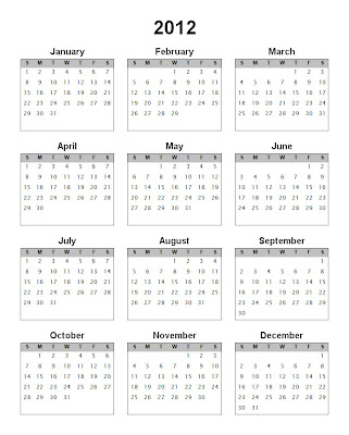 kalender 2012 lengkap