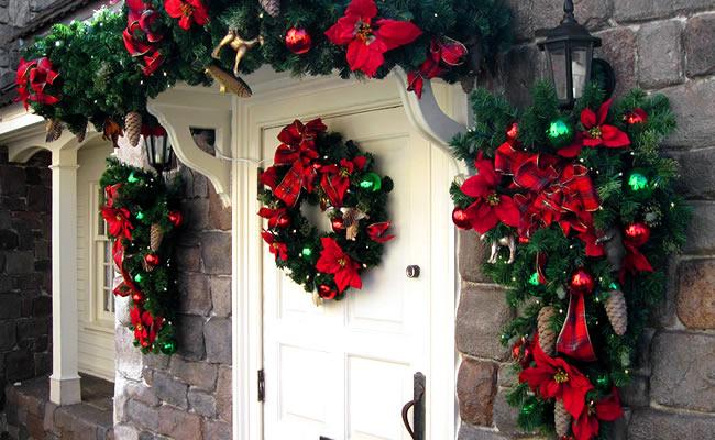 decoracao de natal para interiores de casas:Decora Interi : Decoração de Porta para o Natal