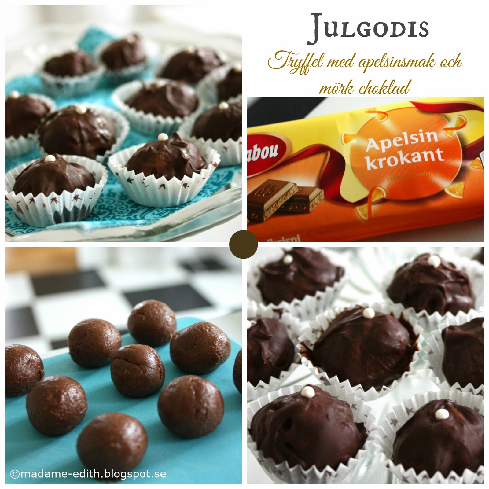 mörk chokladtryffel recept