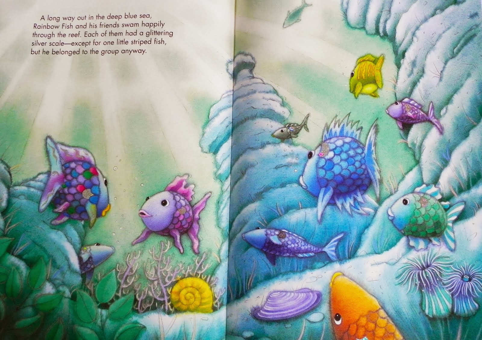 Children 39 s literature the rainbow fish for The rainbow fish
