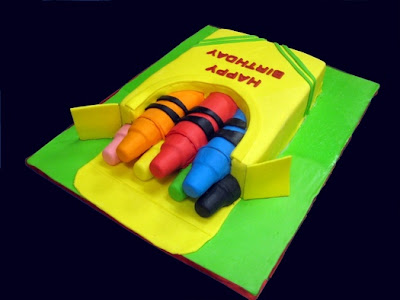 Box of Crayons Cake