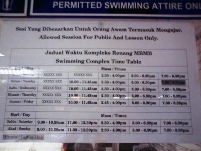 Ingenira travels melaka public swimming pool opening hours - Swimming pool singapore opening hours ...