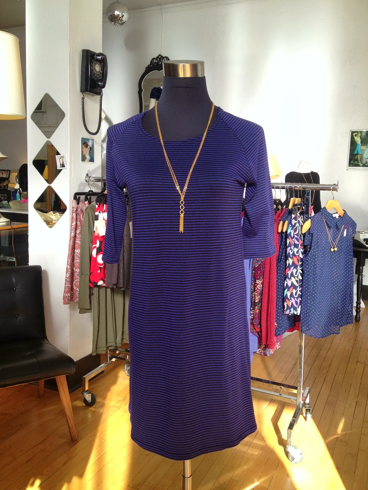 Sarah Bibb Vickie tunic with a Nicole Weldon necklace at Folly