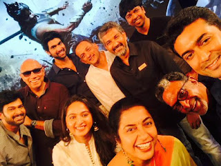 Baahubali Official teaser release pictures selfi by Suriya