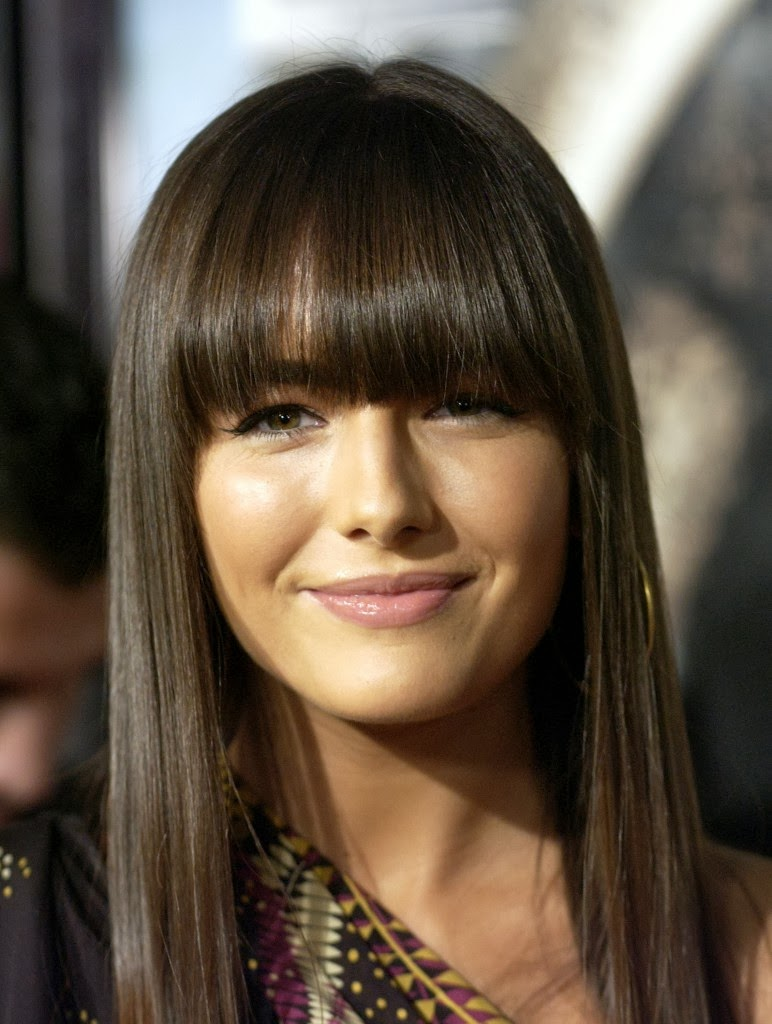 hairstyles for long hair with bangs 2014