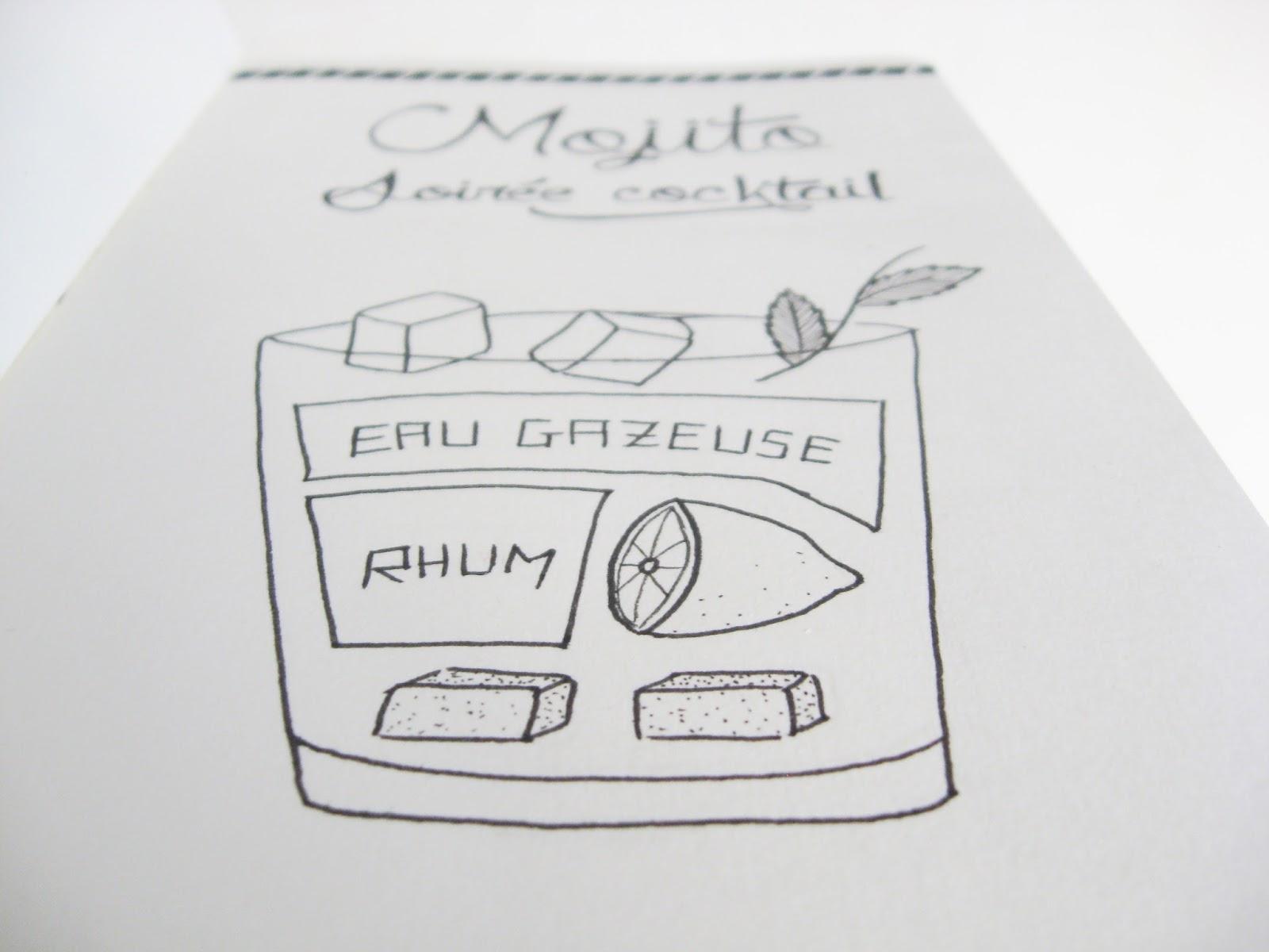 carnet papier résistance draw cocktail
