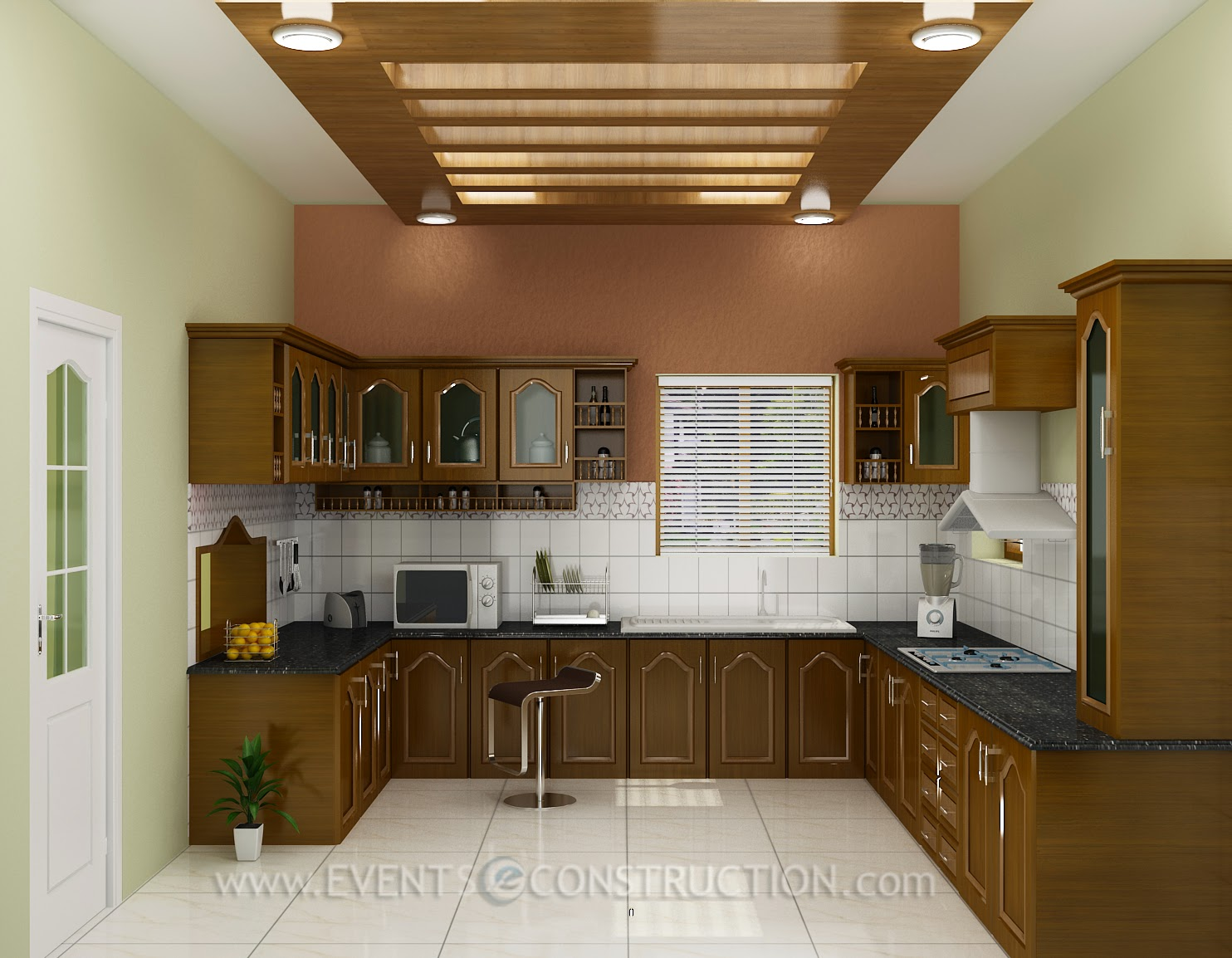 Evens construction pvt ltd kerala kitchen interior design for Kitchen design kerala