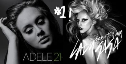 Adele and Lady Gaga Wallpapers 2012