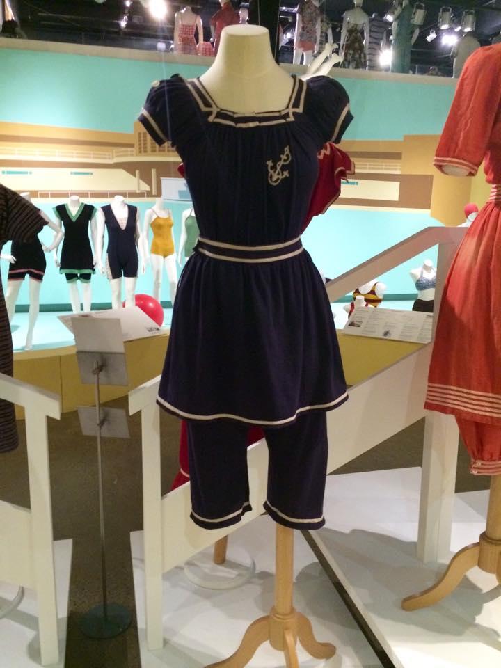 fashion blogger, fashion and textile museum, swimming costume, vintage, ftm