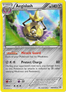 Aegislash Primal Clash Pokemon Card