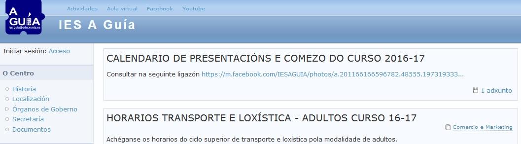 PÁXINA WEB DO CENTRO