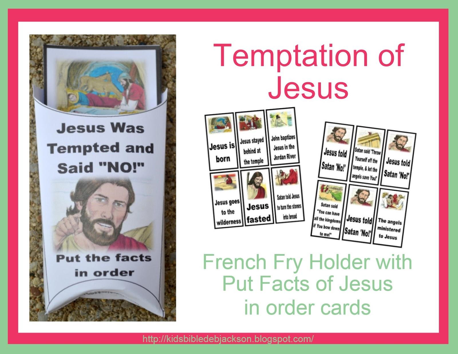 http://kidsbibledebjackson.blogspot.com/2014/07/temptation-of-jesus.html