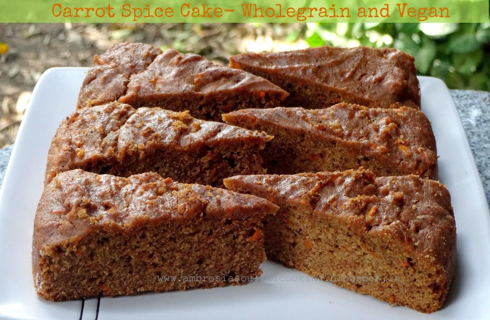 carrot spice cake – wholegrain and vegan