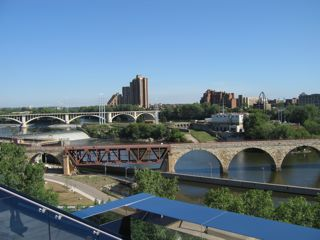 photo of Mississippi River in Minneapolis from the Guthrie Theater