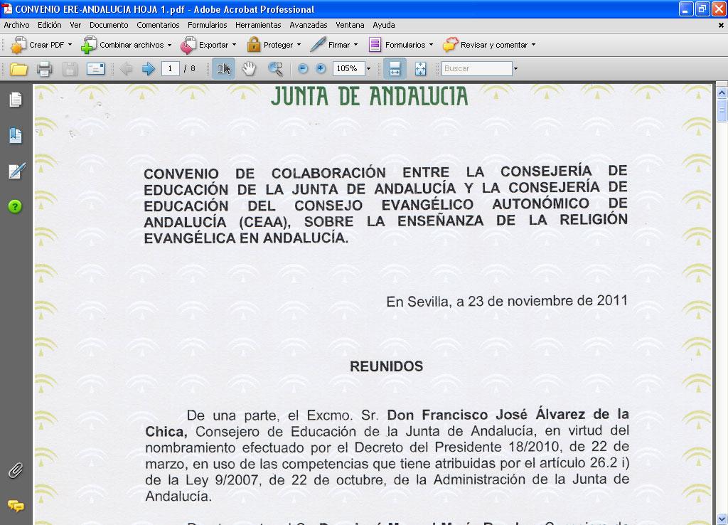 Profesor De Ere Nuevo Convenio Firmado Por La Consejer A