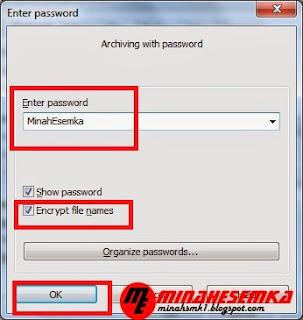 Cara Membuat Password Pada winrar