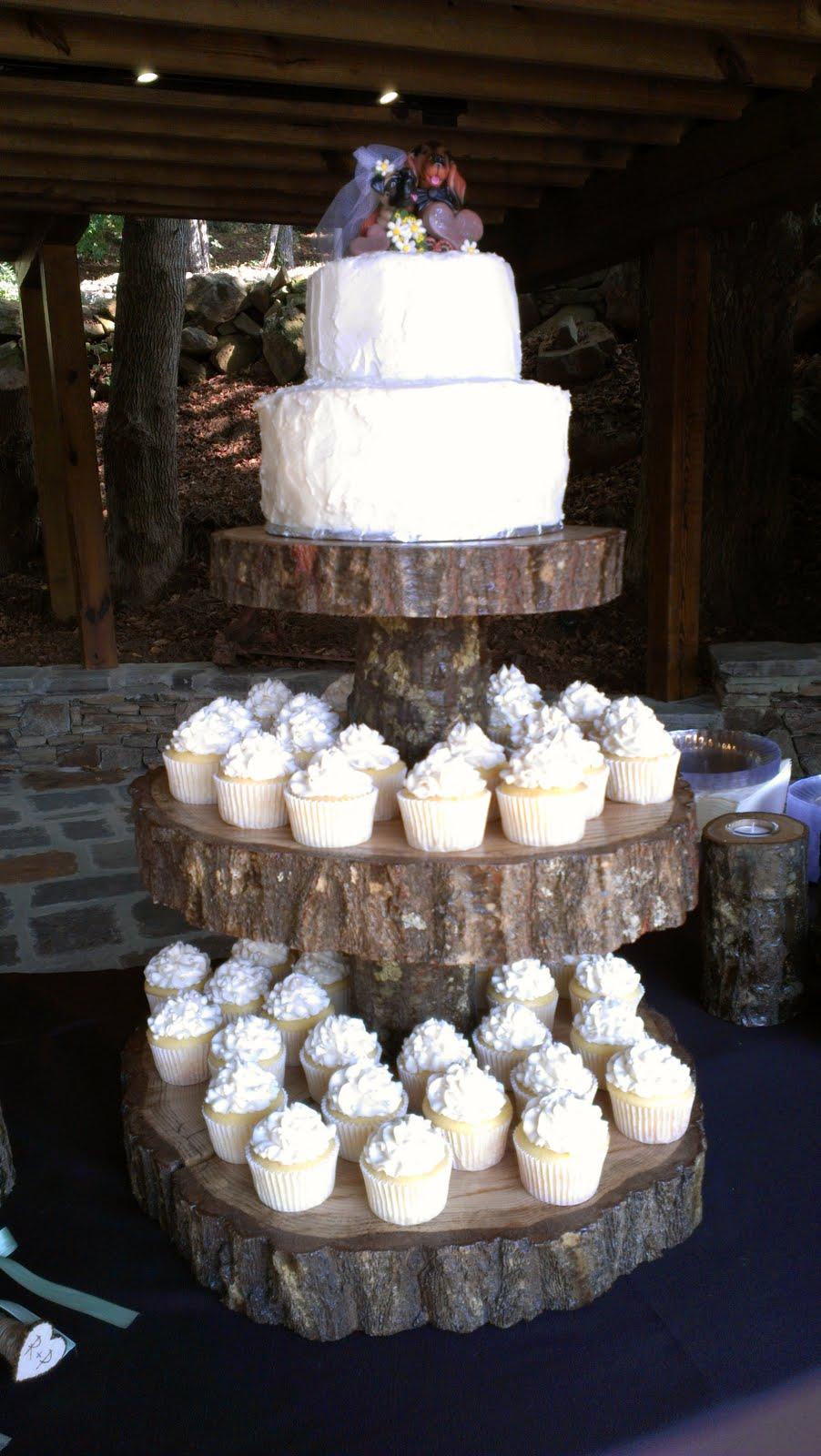 sarah 39 s sweet cakes rustic wedding cake cupcakes