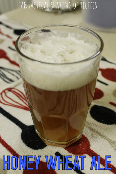 Honey Wheat Ale #recipe #beer #homebrewing