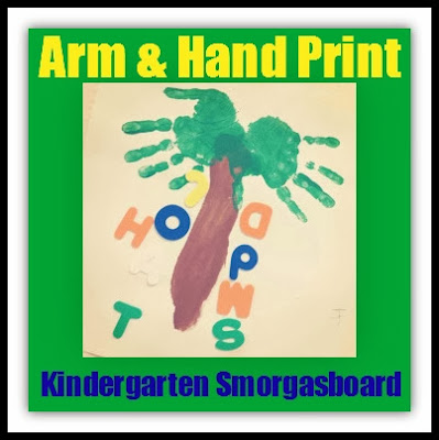 Arm and Hand Print Palm Tree for Chicka Chicka Boom at Kindergarten Smorgasboard