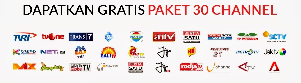 paket gratis 30 channel big tv