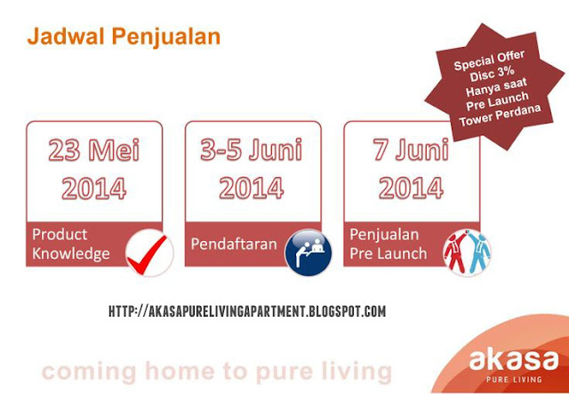 Prelaunch Tower Perdana Akasa Pure Living