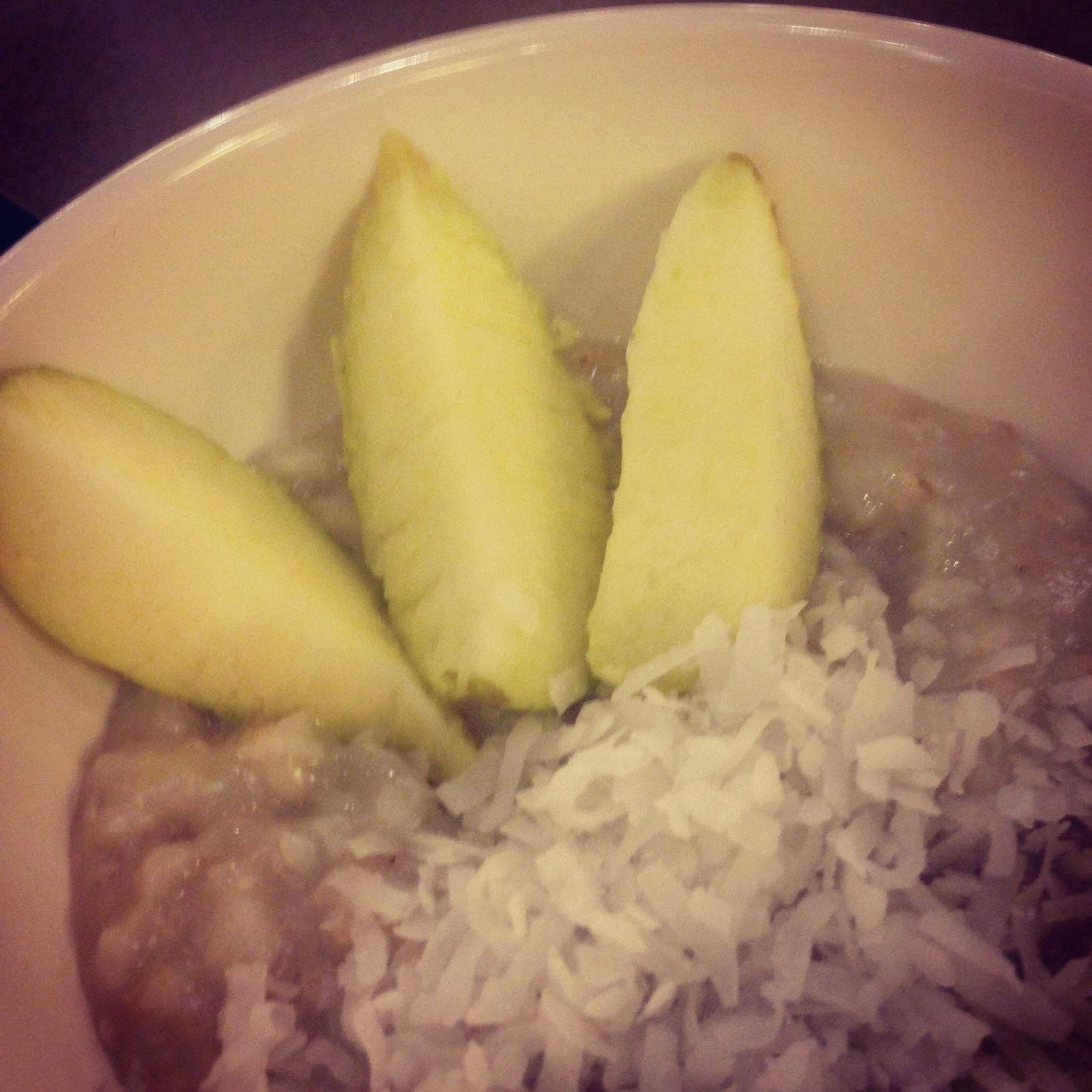 Coconut Apple Oatmeal