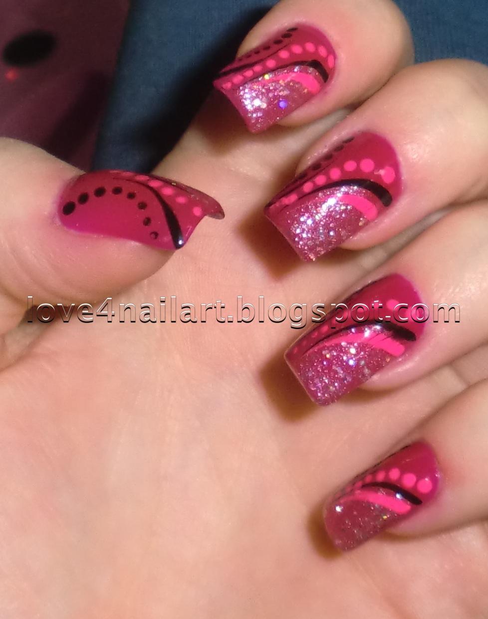 Simple Line Nail Art : Love nailart simple nail art
