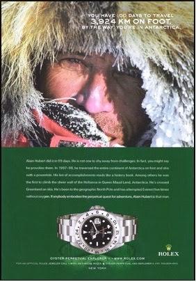 Rolex Explorer II Advert.