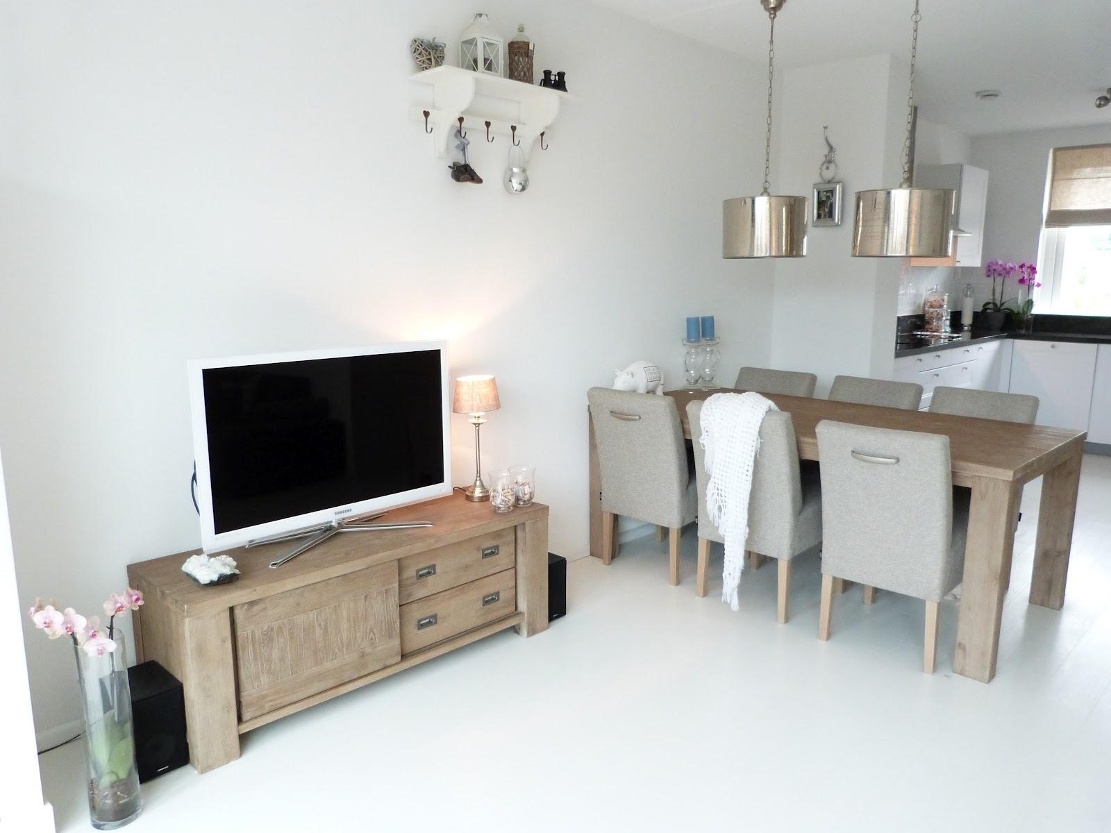 Deco woonkamer zwarte - Deco witte keuken ...