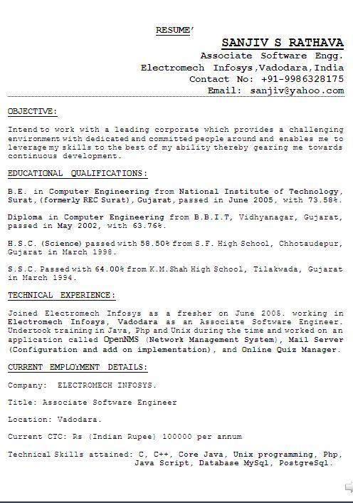 free hybrid resume sample - Resume Sample Template