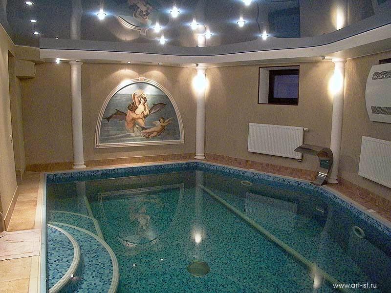 Paintings in Swimming Pool Interior