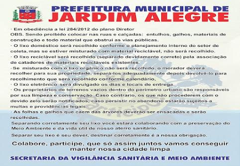 PREFEITURA DE JARDIM ALEGRE