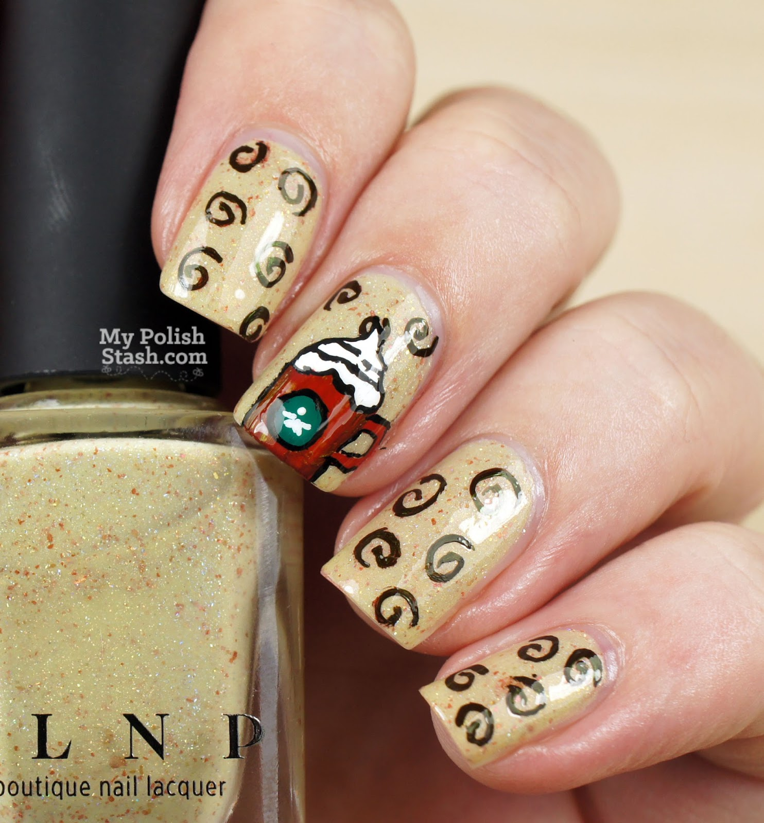 eggnog nail design