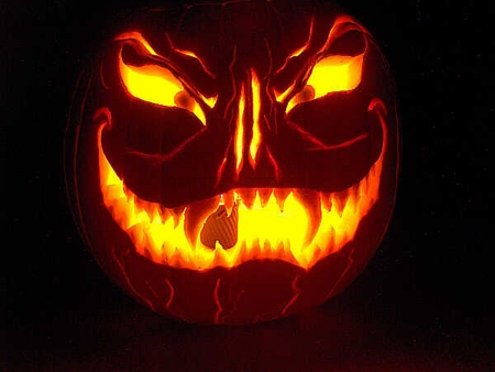 Pumpkin carving ideas for halloween 2017 more pumpkins for Evil face pumpkin template