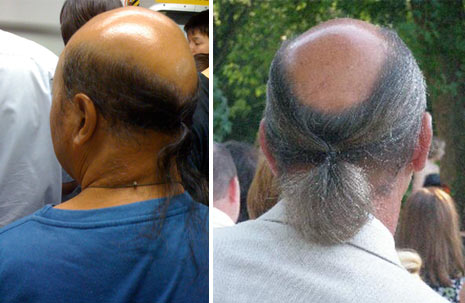 obama bald ponytail