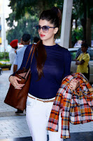 Kainaat Arora in Blue Transparent Top at Femina Festive Showcase at R City Mall HQ Pics