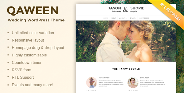 Three Wedding Blog Themes for Wordpress