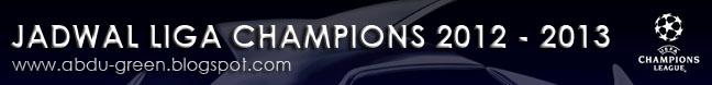 Jadwal Liga Champions 2012-2013