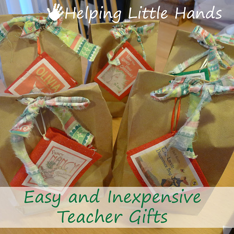 teacher gifts brown bag wrapping