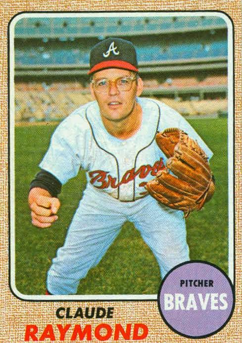 1968 topps baseball for Claude raymond piscine