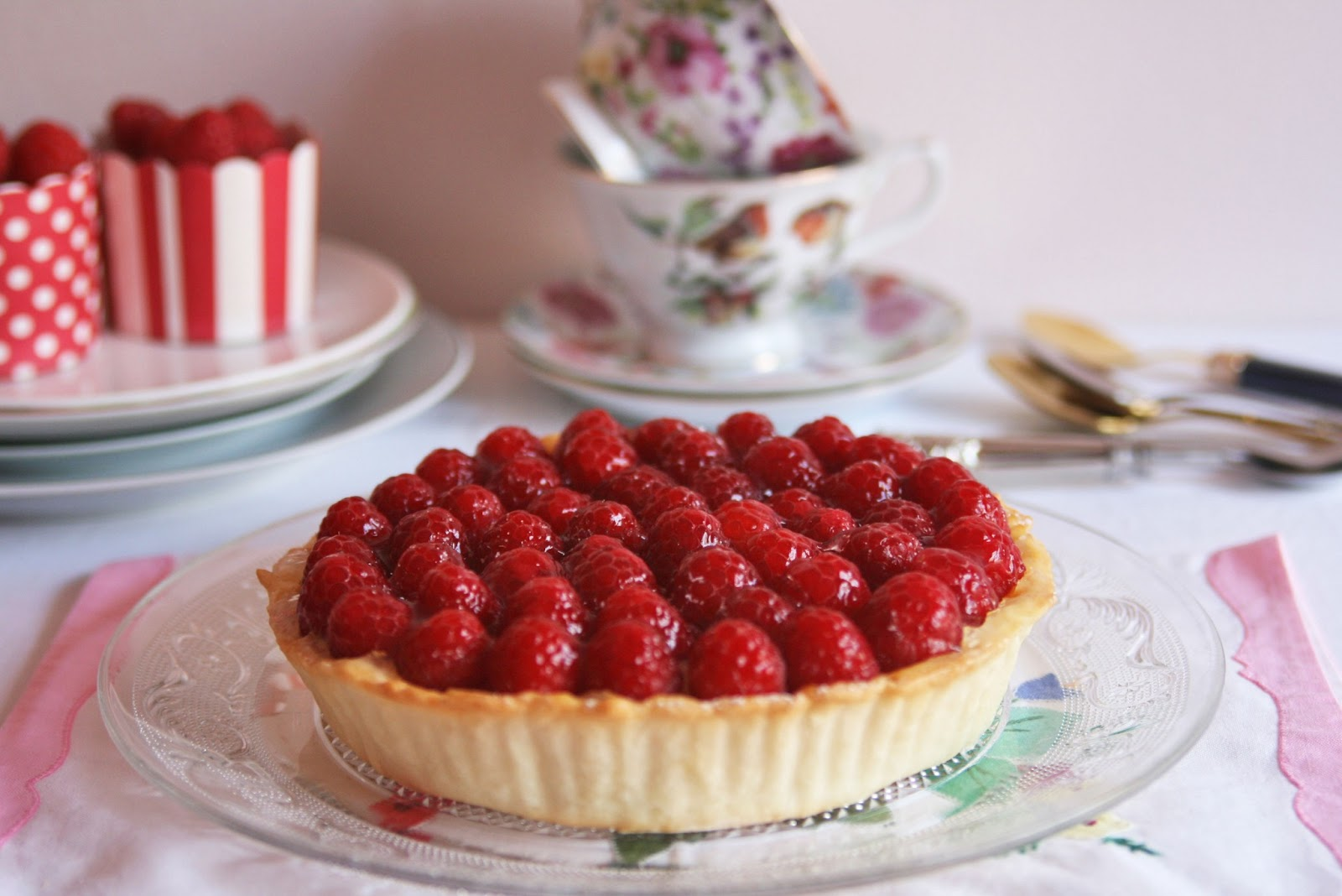 Cinnamon Girl: Raspberry and Cinnamon Custard Tart