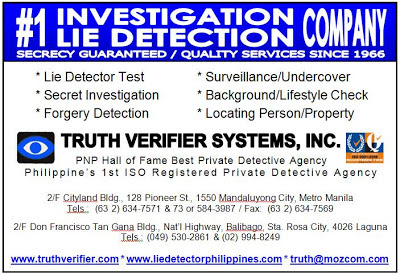 Manila Detecitives Private Detective Agency in Philippines