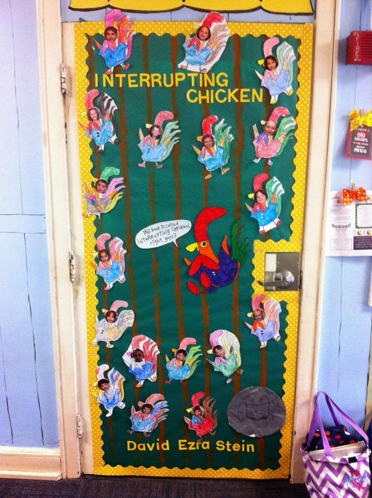 Polka dots and pals our first week back from snow cation for Back to school door decoration