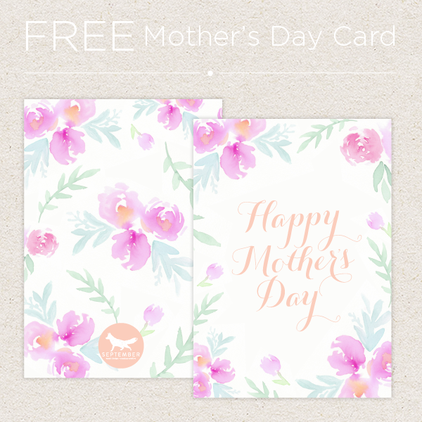 September Creative - Free Mother's Day Card