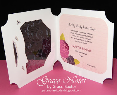 window bday card with sparkle and shine, inside by Grace Baxter
